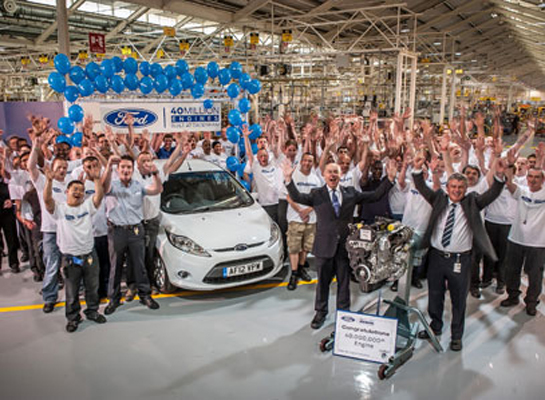 Ford celebrates production of 40 millionth engine