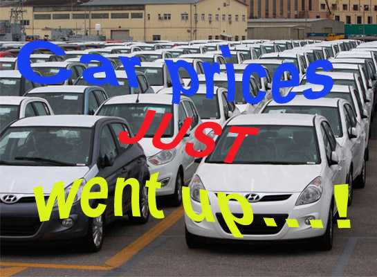 Small car prices up after the budget