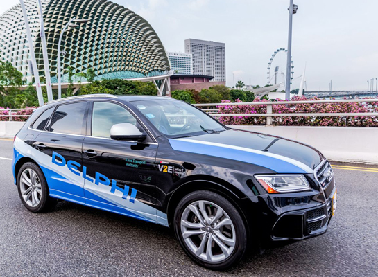 Delphi tests self-driving car service in Singapore