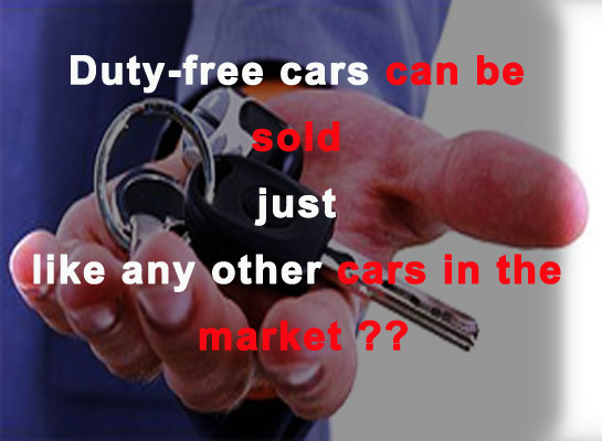 Removing restrictions on trading duty-free vehicles