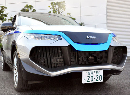 Mitsubishi Electric tests self-driving car