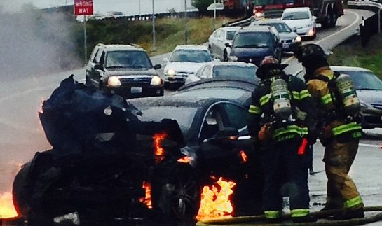 Tesla says Model S fire triggered by a highly uncommon occurrence